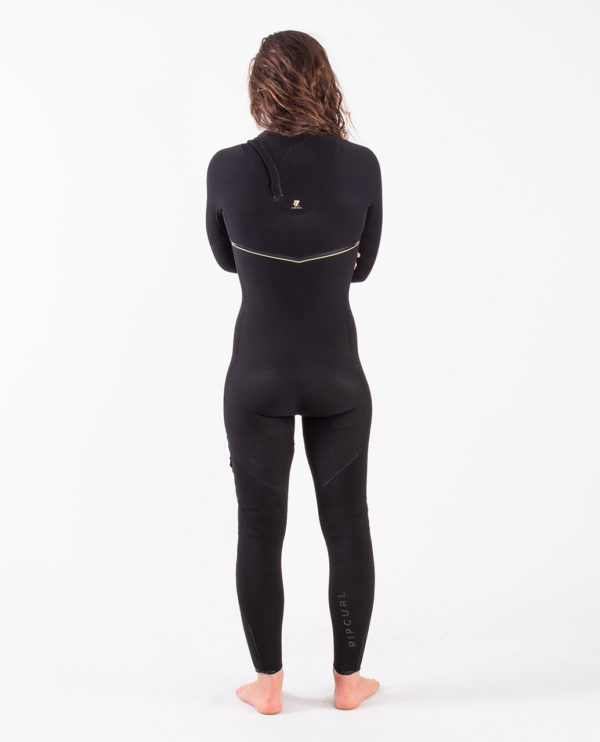 RIP_CURL_SA_LADIES_E7_WETSUITS_WSMYUG_E7 Limited Edition E-Bomb 4:3mm Zip Free Wetsuit Steamer_LADIES_BLACK_BACK