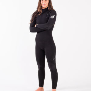 RIP_CURL_SA_LADIES_E7_WETSUITS_WSMYUG_E7 Limited Edition E-Bomb 4:3mm Zip Free Wetsuit Steamer_LADIES_BLACK_SIDE_FOLD