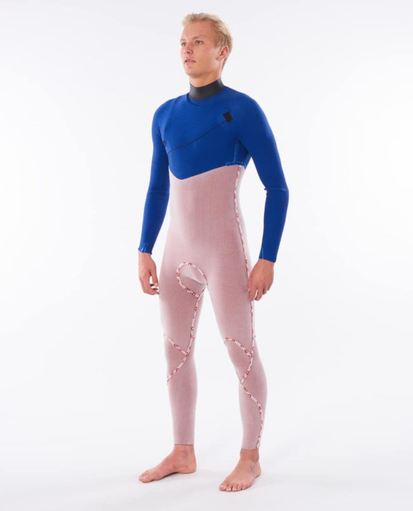 WSM9BF_Flashbomb Search 43 Zip Free Wetsuit_NAVY:RED_INNER