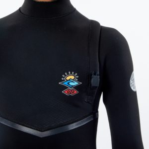 WSMYIB_Junior Flashbomb 3.2 Zip Free Wetsuit_BLACK_FRONT