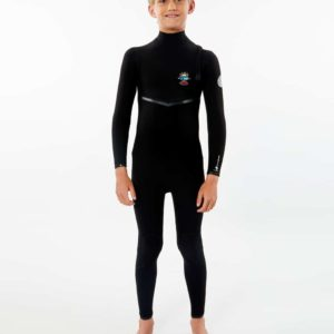 WSMYIB_Junior Flashbomb 3.2 Zip Free Wetsuit_BLACK_FULL