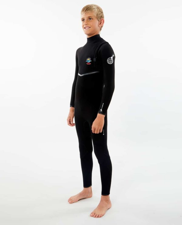 WSMYYB_Junior Flashbomb 4.3 Zip Free Wetsuit_BLACK_SIDE