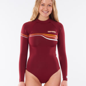 WSP9KW_G-Bomb Cheeky LS Spring_MAROON_FRONT