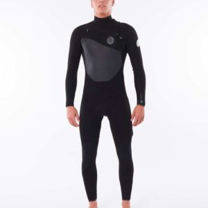 WSTYMF_Dawn Patrol 3.2mm Chest Zip Wetsuit_BLACK_FRONT