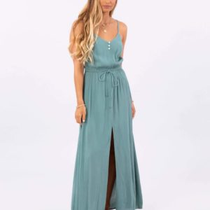 GDRIY7_Cruzin Maxi Dress_TEAL_FRONT