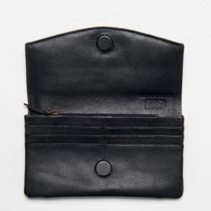 LWLET1_Lost Milled Rfid Leather Wallet_BLACK_OPEN