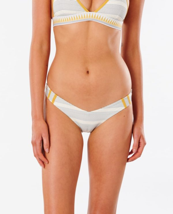 RIPCURL_SOUTH_AFRICA_LADIES_SWIMWEAR_W21_GSILR9_SALTY DAZE SKIMPY PANT_GOLD_FRONT