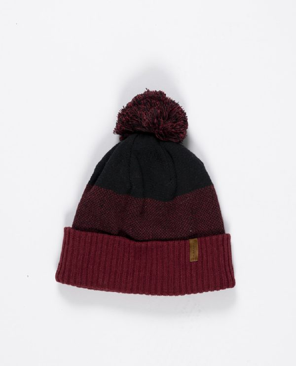 CBNDS1_ PEPPER BEANIE_MAROON_FRONT