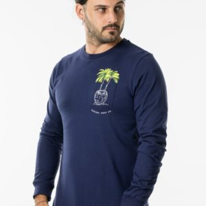 CTEPAL_PALMS LS TEE_NAVY_FRONT SIDE