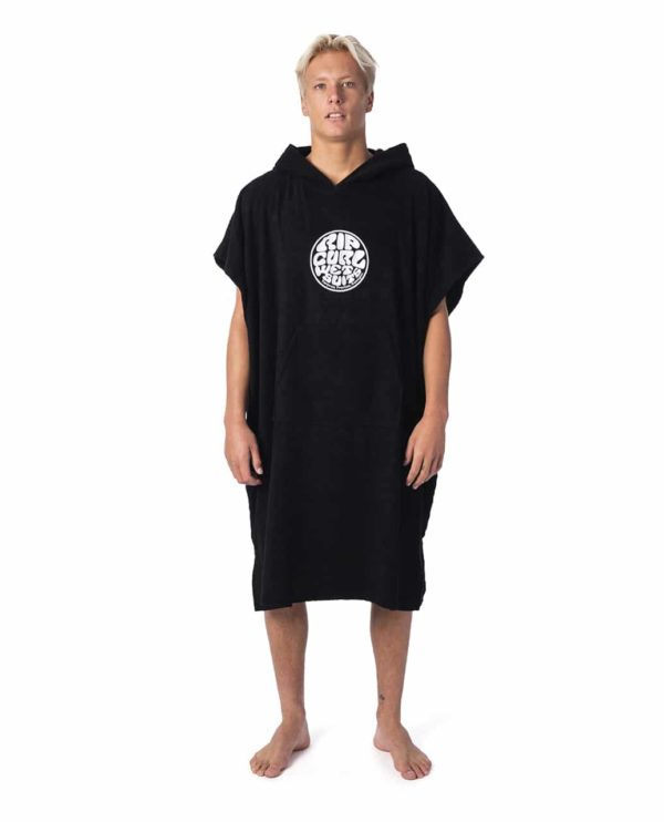CTWCE1_Icons Hooded Towel_BLACK_FRONT