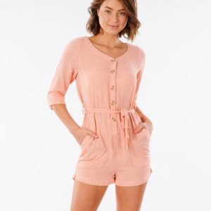 GDRED9_TALLOWS SPOT ROMPER_CORAL_FRONT