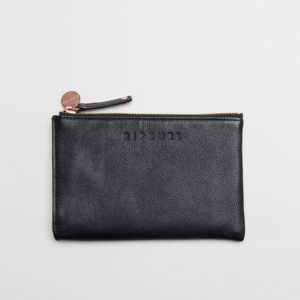 LWLES1_Mini Leather Coin Purse_BLACK_FRONT