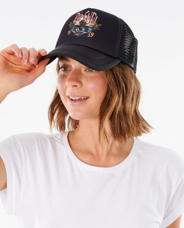 RIP_CURL_SA_LADIES_HEADWEAR_CAPS_GCAJV1_NORTH SHORE SCENIC TRUCKER_BLACK_FULL