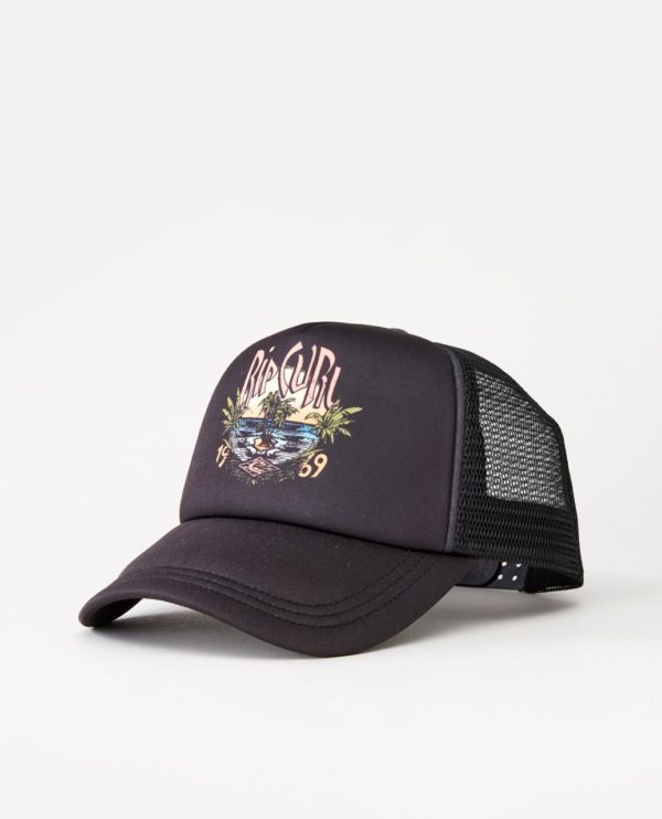 RIP_CURL_SA_LADIES_HEADWEAR_CAPS_GCAJV1_NORTH SHORE SCENIC TRUCKER_BLACK_SIDE