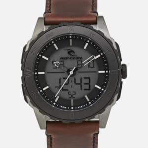 A3265_RIVAL ANA-DIGITAL LEATHER WATCH_GUNMETAL_FRONT
